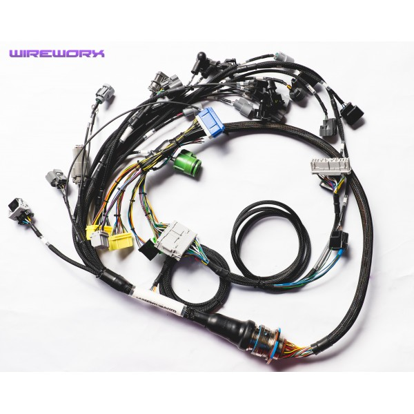 k series non milspec engine harness b series braided milspec engine harness wireworx mil spec wiring harness at aneh.co