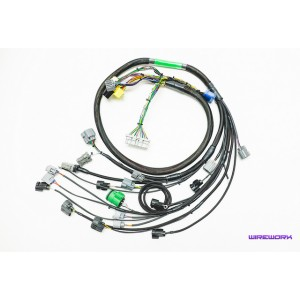 B-Series Budget-Friendly Engine Harness (OBD1 ONLY) - WIREWORX on electrical harness, cable harness, alpine stereo harness, amp bypass harness, oxygen sensor extension harness, battery harness, radio harness, engine harness, dog harness, suspension harness, fall protection harness, nakamichi harness, pony harness, safety harness, obd0 to obd1 conversion harness, pet harness, maxi-seal harness,