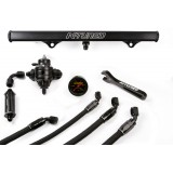 6AN Fuel Sys. Center Feed Lines/Filter/Black Rail/ FPR/Gauge/Wrench